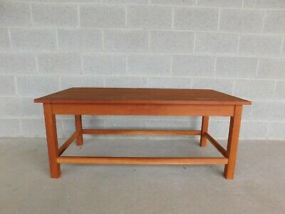 Samuel S Case Mission Oak Arts & Crafts Style Cherry Cocktail/Coffee Table