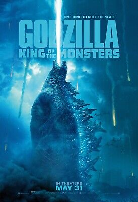 GODZILLA KING OF MONSTERS 2019 BUS SHELTER /MOVIE POSTER 4x6 FT BRAND NEW