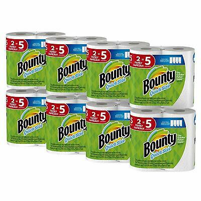 Bounty Quick-Size Paper Towels, White, Family Rolls, 16 Count (Equal to 40