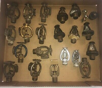 Antique Lot Of Early Fire Sprinkler Heads Collectors Estate