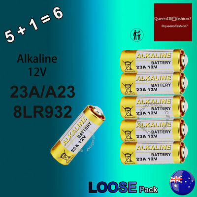 6 x 23A Loose A23/8LR932 12V Powercell Battery Batteries Alarm Remote ( 5 + 1)