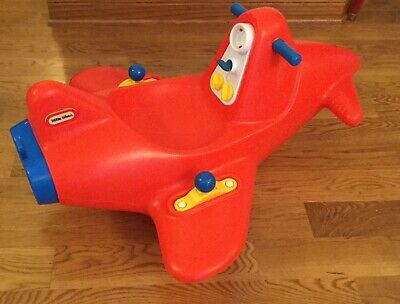 Surprising Vintage Little Tikes Red Plane Airplane Rocking Chair Toy Ncnpc Chair Design For Home Ncnpcorg