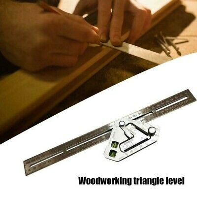 Stainless Steel  Woodworking Triangle Level Ruler Angle Rulers Measuring Tool