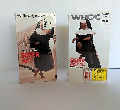 Sister Act & Sister Act 2 Back In The Habit VHS Whoopi Goldberg NEW SEALED