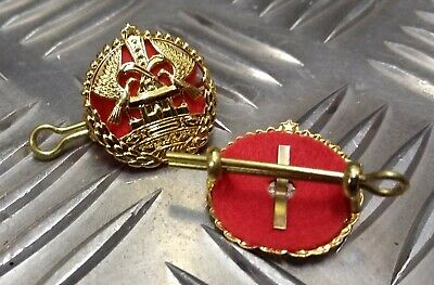 Genuine Military Issue Decorative Insignia Matching Metal Badges 1 Pair NEW