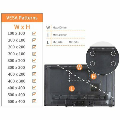 Full Motion TV Mount Articulating 30 32 37 39 40 50 65 Inch LED LCD Flat Screen