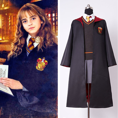 Harry Potter Hermione Granger Gryffindor Cosplay Costume Kid Adult Size In Stock