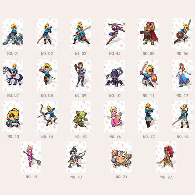 22 Full Set NFC PVC Tag Card ZELDA BREATH OF THE WILD WOLF LINK Gift Toy US