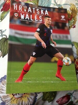 CROATIA v WALES  8th June 2019 Official VIP Euros 2020 Football Programme