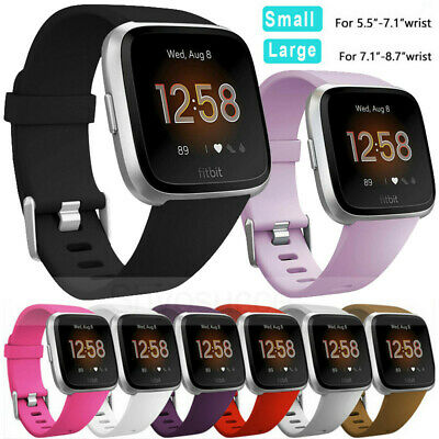 S/L Replacement Silicone Wrist Sports Band Strap Wristband For Fitbit Versa/Lite