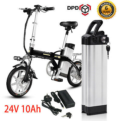 E-Bike Battery 24V Electric Bicycle Motorcycle Battery Pack with Lock & Charger