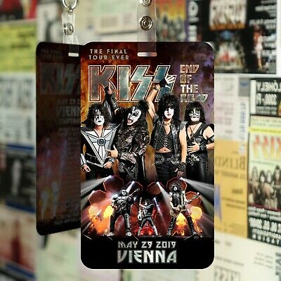 KISS END OF THE ROAD TOUR 2019 FAN PASS! Customized for YOUR show! FAN ART!