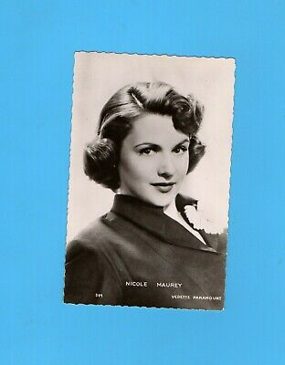 ► NICOLE MAUREY  - CP - CARTE POSTALE - PHOTO - TBE - ( Paramount 1954 )