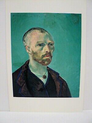 "Cpm Rppc Vincent Van Gogh ""Self Portrait"" 1888  Fogg Art Museum Cambridge"