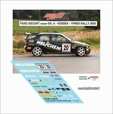 DECALS 1//43 FORD SIERRA RITLA SOULET RALLY YPRES 1992