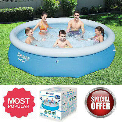 Large Family Swimming Pool 10 Ft Garden Outdoor Inflatable Kids Paddling Pools