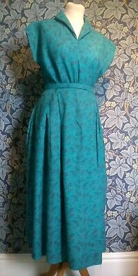 Vintage 1960s 1960s paisley skirt and top original skirt dress teal rock & roll