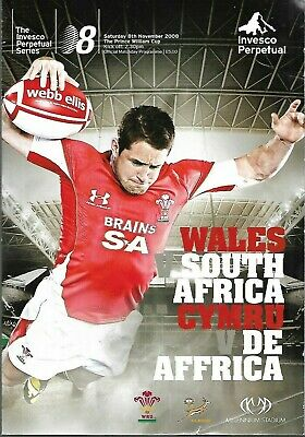 WALES V SOUTH AFRICA  : Official programme. 8th November 2008