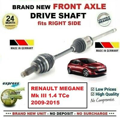 FOR RENAULT MEGANE Mk III 1.4 TCe 2009-2015 1x NEW FRONT AXLE RIGHT DRIVESHAFT