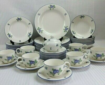 Royal Doulton Blueberry Fine China Dinner & Tea Items - Sold Individually VGC