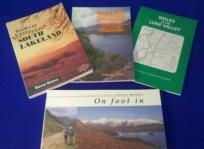 Walking Books.(4) Featuring the Lake District, & Lancaster.