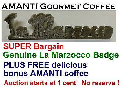 SUPER BARGAIN Genuine La Marzocco Coffee Machine BADGE + Bonus AMANTI Coffee