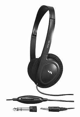 591172eb985 Cyber Acoustics 3.5MM Plug ACM-90 Stereo Headphones w/ Volume Control [E279