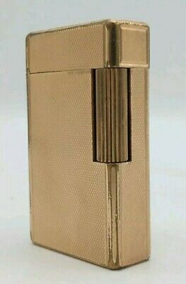 Accendino Lighter DUPONT PARIS France collection PLAQUE OR oro gold 20 microns