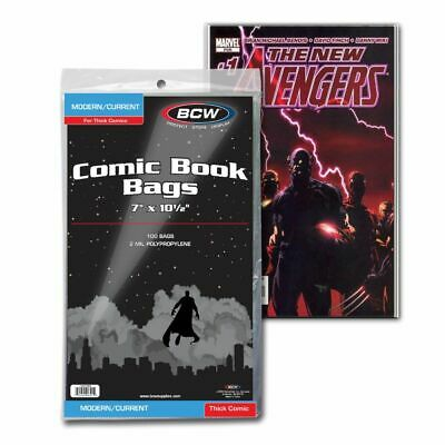 BCW Current/Modern Comic Bags - For Thick Comics - 1000