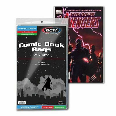 BCW Resealable Current/Modern Comic Bags - For Thick Comics - 1000