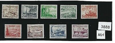 1937 Complete MH stamp set / Winter Relief (Ships) / 1930s Germany / Third Reich