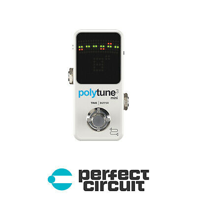 TC Electronic Polytune 3 MINI Tuner Pedal EFFECTS - NEW - PERFECT CIRCUIT