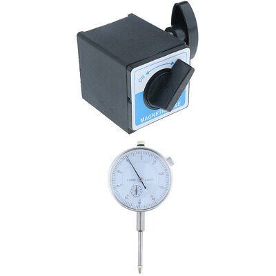 Precision Dial Test Indicator w/Pointer,Metric 0-30mm Anti-magnetic &Base