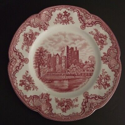 "Johnson Bros. ""Old Britain Castles"" 10"" Pink Dinner Plate, Unused, Sticker"