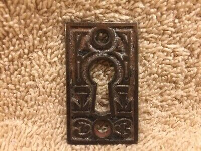 Antique Vintage Fancy Cast Iron Eastlake Victorian Key Hole Keyhole Cover