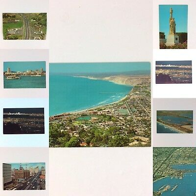 Lot 10 Vintage San Diego California Scenic Postcards - La Jolla Point Loma Hotel