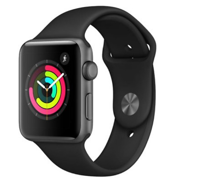 Apple Watch Series 3 42mm Black Sport Band - Space Gray - In Box (GPS)
