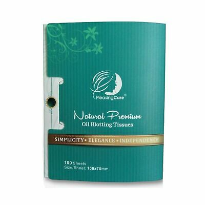 Natural Bamboo Charcoal Oil Absorbing Tissues - 100 Counts, Easy Take Out Des...
