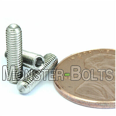 M3-0.50 x 12mm  Stainless Steel Socket Set Screws CUP Point / DIN 916 A2-70