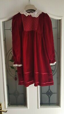 Vintage Girls Red Dress perfect for 40s  AGE 6