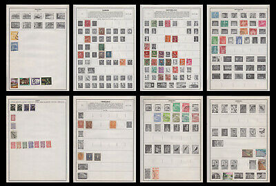 Harris Album Pages with 75 Used Stamps (H 02)