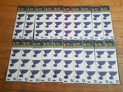 20 NHL Licensed Okee Dokee St. Louis Blues Hockey Sticker Decal Packs