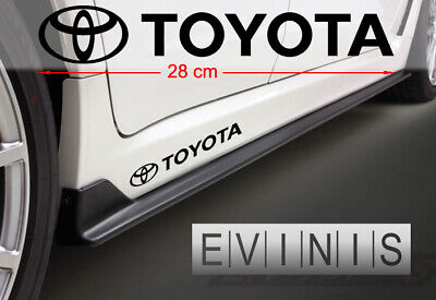TOYOTA Side Stickers Car Decals Graphics DEFAULT BLACK pair
