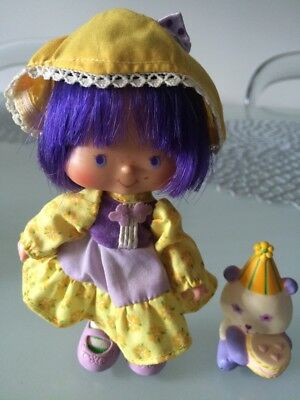 Strawberry Shortcake vintage ALMOND TEA Party Pleaser + Marza Panda doll 1980s