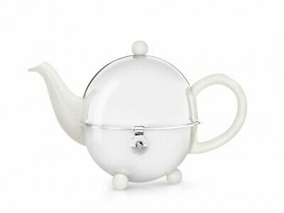 Bredemeijer Cosy White China Teapot - 0.5 Litre