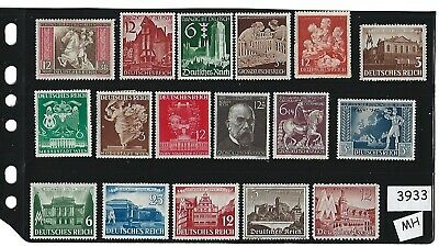 Mint-MH Stamp set / Everyday Postage Used in Third Reich Germany / MH stamps