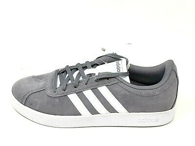 NEW! Kid's ADIDAS  VL Court 2.0 Sneaker B75692 Grey/White 63F tm