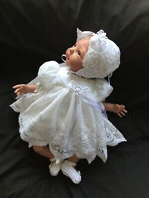 "Reborn Doll Dress Set. White Netting.19-21""."