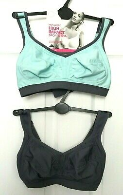 Ladies Pair Sports Bras x2 M&S High Impact Non Wired Multiway BNWT Marks Women