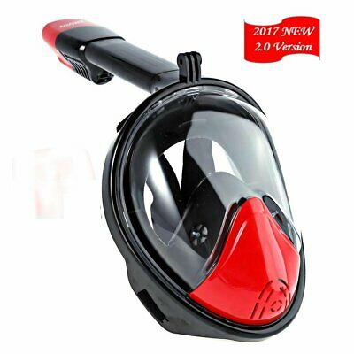Snorkel mask easy snorkel sunohyesla 180°view Panoramic full face Snorkel Mask..